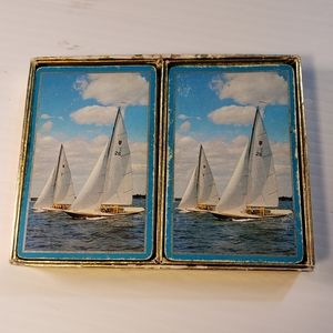 Congress Double Deck Playing Cards Sailboats